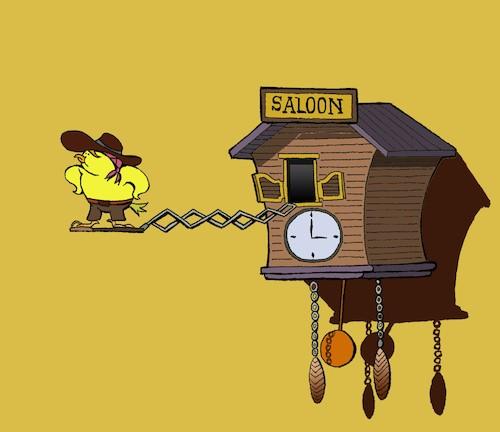 Saloon    By berk-olgun | Media & Culture Cartoon | TOONPOOL