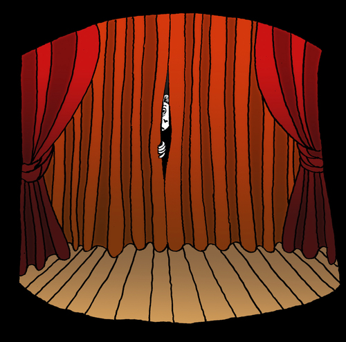 Cartoon: Stage Fright... (medium) by berk-olgun tagged stage,fright