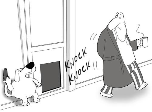 The Dog Door By Berk Olgun Media Culture Cartoon Toonpool