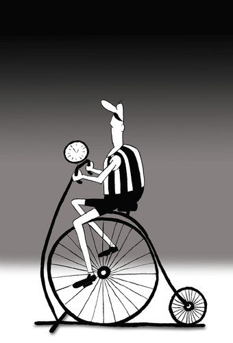 Cartoon: The First Fitness Bike... (medium) by berk-olgun tagged the,first,fitness,bike