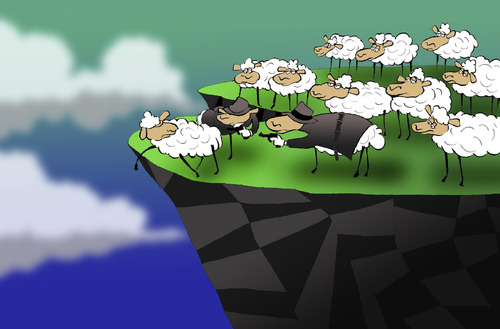 Cartoon: The Sheep Mafia... (medium) by berk-olgun tagged the,sheep,mafia