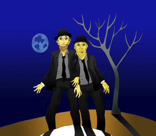 Waiting for Godot    By berk-olgun   Media & Culture Cartoon
