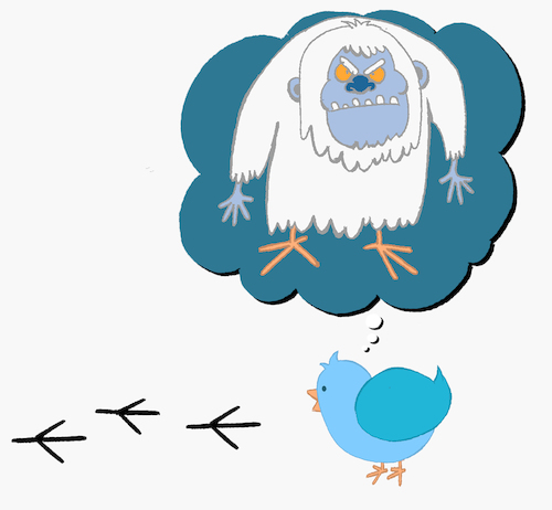 Cartoon: Yeti Bird... (medium) by berk-olgun tagged yeti,bird