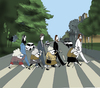 Cartoon: Abbey Road.. (small) by berk-olgun tagged abbey,road,beatles