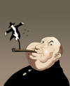 Cartoon: Alfred Hitchcock.. (small) by berk-olgun tagged alfred hitchcock