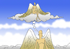 Cartoon: Angel... (small) by berk-olgun tagged angel