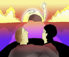 Cartoon: Bad Love-Sunset... (small) by berk-olgun tagged bad,love