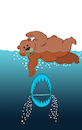 Cartoon: Bear Trap... (small) by berk-olgun tagged bear,trap
