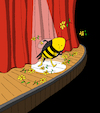 Cartoon: Bee on Stage... (small) by berk-olgun tagged bee,on,stage