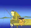 Cartoon: Cat and The Fisherman... (small) by berk-olgun tagged cat,and,the,fisherman
