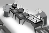 Cartoon: Chessmaster in trouble.. (small) by berk-olgun tagged chessmaster,in,trouble