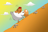 Cartoon: Chicken Sisyphus... (small) by berk-olgun tagged chicken,sisyphus