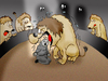 Cartoon: Circus of the Lions.. (small) by berk-olgun tagged circus,of,the,lions