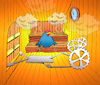 Cartoon: Cuckoo Clock Sauna... (small) by berk-olgun tagged cuckoo,clock,sauna