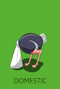 Cartoon: Domestic Ostrich... (small) by berk-olgun tagged domestic,ostrich