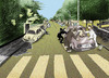 Cartoon: Economic Crisis.. (small) by berk-olgun tagged abbey,road