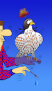 Cartoon: Falcon Hood... (small) by berk-olgun tagged falcon,hood
