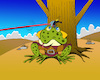 Cartoon: Frog Tell... (small) by berk-olgun tagged frog,tell