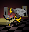 Cartoon: Killer Bee... (small) by berk-olgun tagged killer,bee