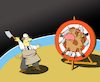 Cartoon: Knife Thrower... (small) by berk-olgun tagged knife,thrower