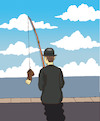 Cartoon: Magritte Fishing... (small) by berk-olgun tagged magritte,fishing