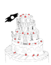 Cartoon: Marriage Cake... (small) by berk-olgun tagged marriage,cake