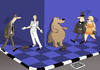 Cartoon: Pantomime... (small) by berk-olgun tagged pantomime