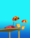 Cartoon: Parachute... (small) by berk-olgun tagged parachute