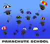 Cartoon: Parachute School... (small) by berk-olgun tagged parachute,school