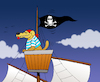 Cartoon: Pirate Dog... (small) by berk-olgun tagged pirate,dog