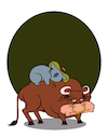 Cartoon: Rodeo... (small) by berk-olgun tagged rodeo