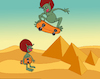 Cartoon: Skateboard... (small) by berk-olgun tagged skateboard