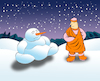 Cartoon: Snow Buddha... (small) by berk-olgun tagged snow,buddha