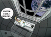 Cartoon: Space phobia.. (small) by berk-olgun tagged space,phobia