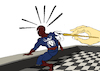 Cartoon: Spider Senses... (small) by berk-olgun tagged spider,senses