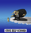 Cartoon: Stone Help Scissors... (small) by berk-olgun tagged stone,help,scissors