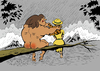 Cartoon: Tarzan in Love... (small) by berk-olgun tagged tarzan,in,love