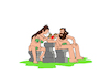 Cartoon: Tattoo... (small) by berk-olgun tagged tattoo