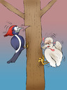 Cartoon: The Ugly Woodpeckerling... (small) by berk-olgun tagged the ugly woodpeckerling
