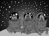 Cartoon: Three Astronauts... (small) by berk-olgun tagged three,astronauts
