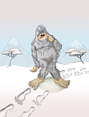 Cartoon: Yeti The Paranoid.. (small) by berk-olgun tagged yeti