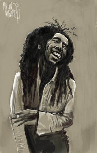 Bob Marley By Marian Avramescu Famous People Cartoon Toonpool