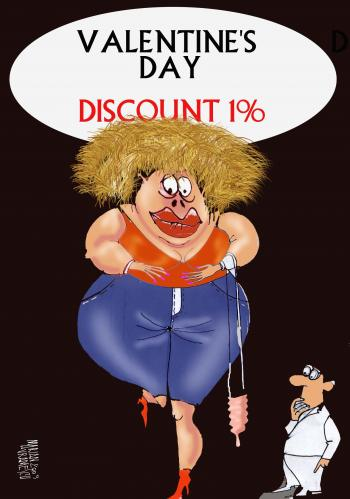 Cartoon: discount (medium) by Marian Avramescu tagged mav