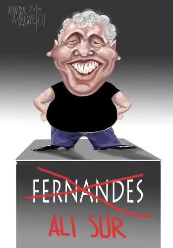 Cartoon: Genius FERNANDES (medium) by Marian Avramescu tagged mmmmmmmm