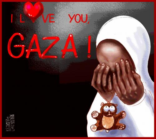 i love you pictures. Cartoon: I LOVE YOU GAZA