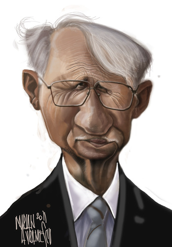 Cartoon: Jurgen Habermas (medium) by Marian Avramescu tagged mmmmmm