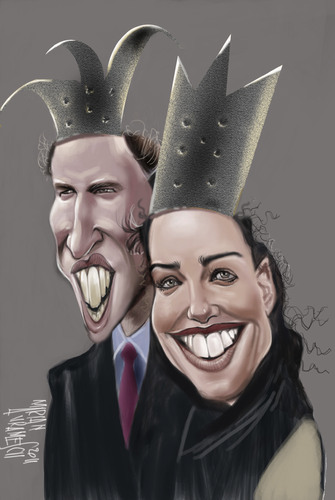 Cartoon: Royal (medium) by Marian Avramescu tagged mmmmmmmmmm