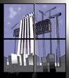 Cartoon: future architecture (small) by Marian Avramescu tagged mmmmmmmmmmmmmmmm
