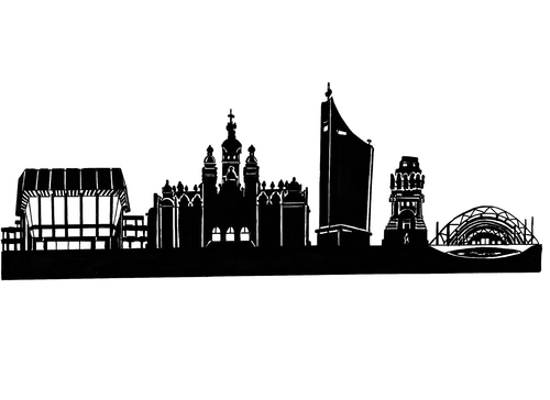 Cartoon City Skyline Cartoon Skyline Leipzig