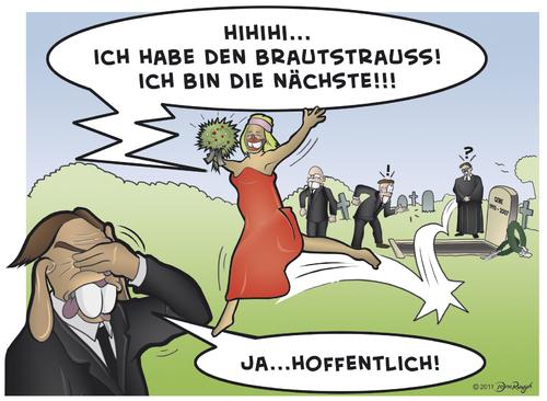 Die Braut haut ins Auge... By Snägels  Love Cartoon  TOONPOOL